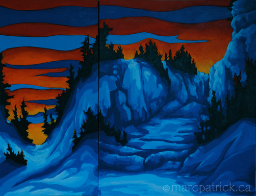 Winter Sunrise 2 by Marc Patrick LaCaille - Canadian Abstract Artist